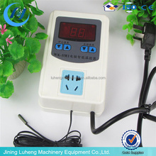 Adjustable Thermostat with remote control and automatic time switch
