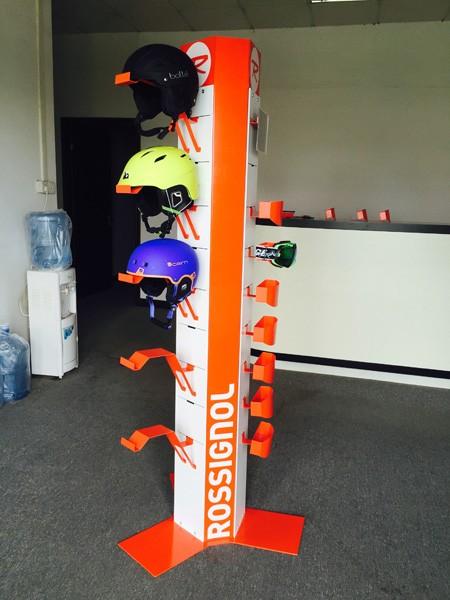 Safety Bicycle Helmet Display Rack Motorcycle Helmet
