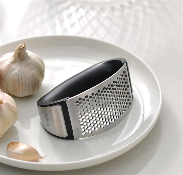 2 in 1 stainless steel garlic chopper press