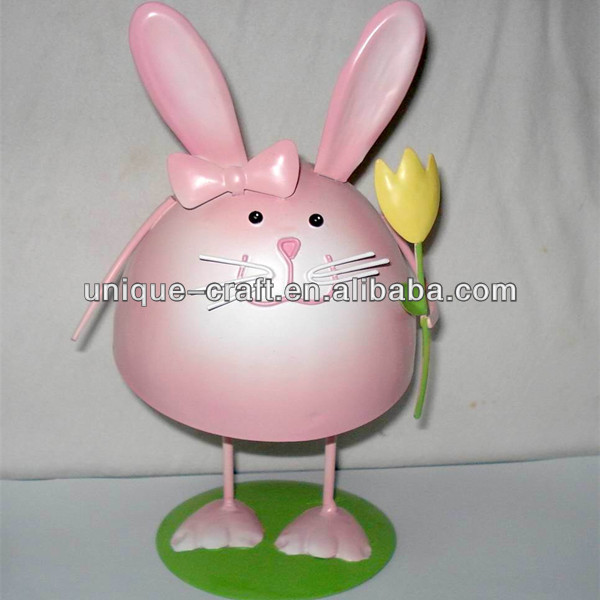Metal Rabbit Decoration table garden decorative rome craft