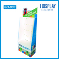 Custom design cell phone accessories cardboard display stand with peg hooks