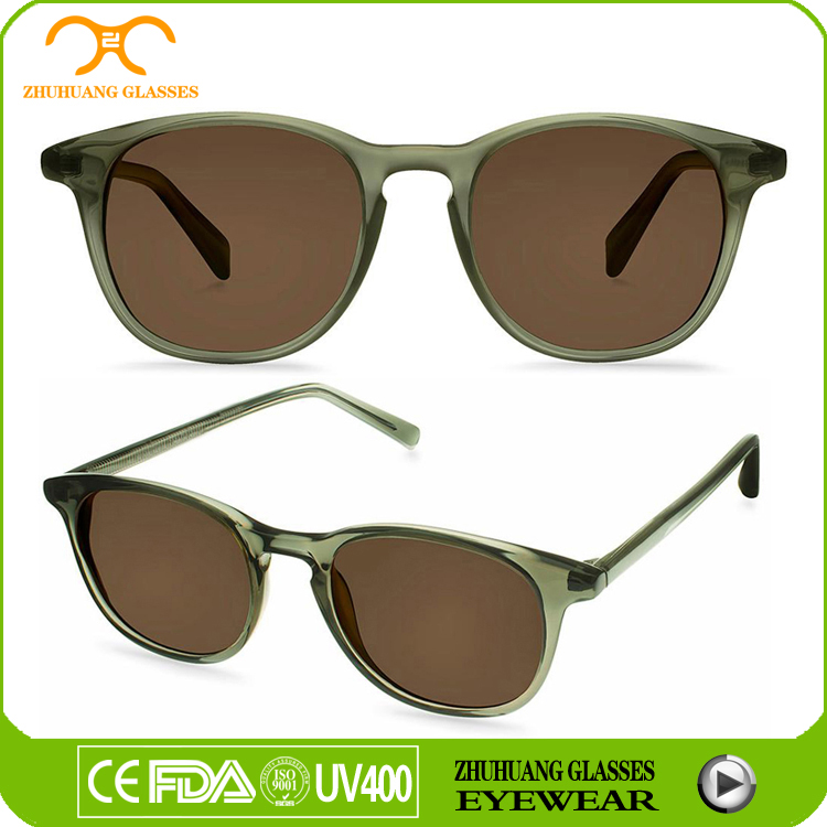 Full rim special color acetate UV400 sun glasses polarized