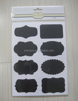 New Custom Writable Mini Chalk Label Sticker Waterproof Chalkboard Labels For Baby Room Decoration Kids Black Chalkboard Sticker