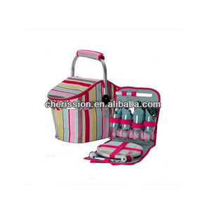 Foldable Stripe Picnic basket