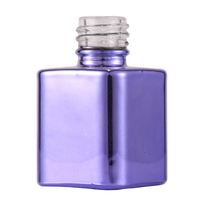 15Ml Brand Purple Uv Nail Gel Polish Bottle With Black Lid Brush