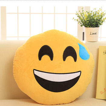 2016 Popular Emoji Pillow Soft Whatsapp Emoji Pillow Embroidery Emoji Pillow