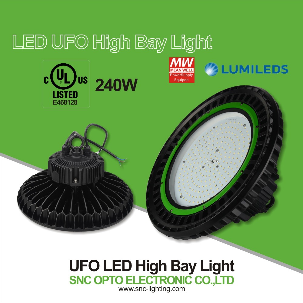 Newest ufo industrial highbay 240 watts 2016 new type with IP65