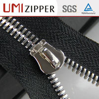 Silver fashion design with slider special large zipper for handbags