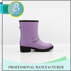 Made in china Useful Cheap ankle soft purple rubber boot