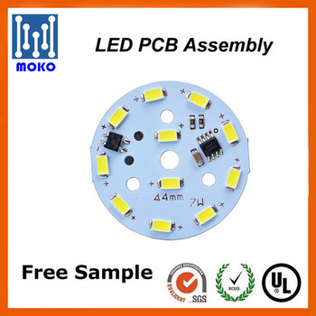 Rigid Round LED PCB, LED Bulb PCB Factory in Shenzhen