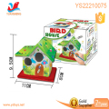 Diy education toys for children watercolour printing log cabin,diy house craft kit for kids