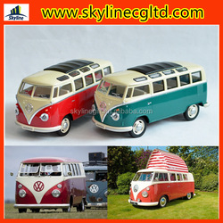 Wholesale diecast cars toy Licensed diecast bus model VW T1 retro bus model