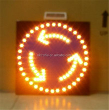 portable solar powered flash warning led traffic signals sign
