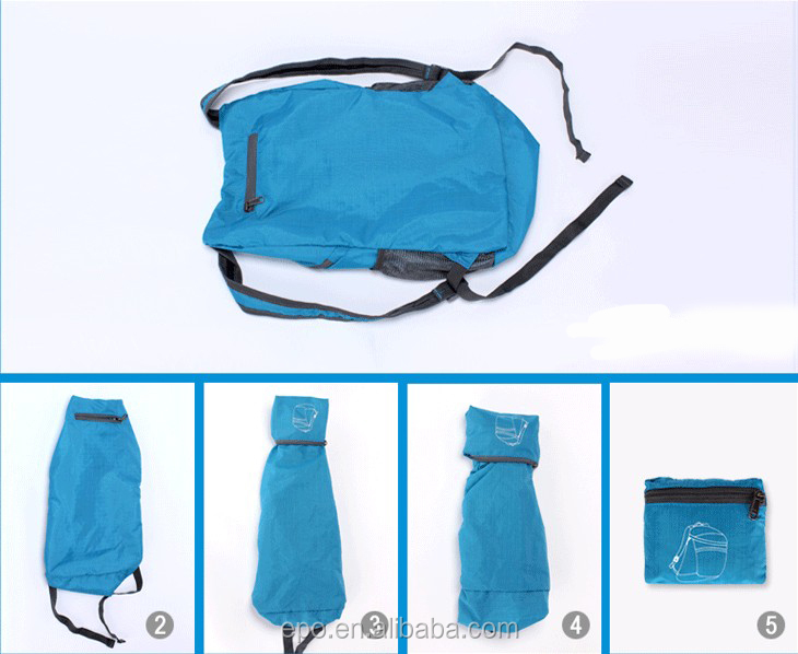 High quality outdoor men and woman design foldable backpack, fashion waterproof travel backpack bags