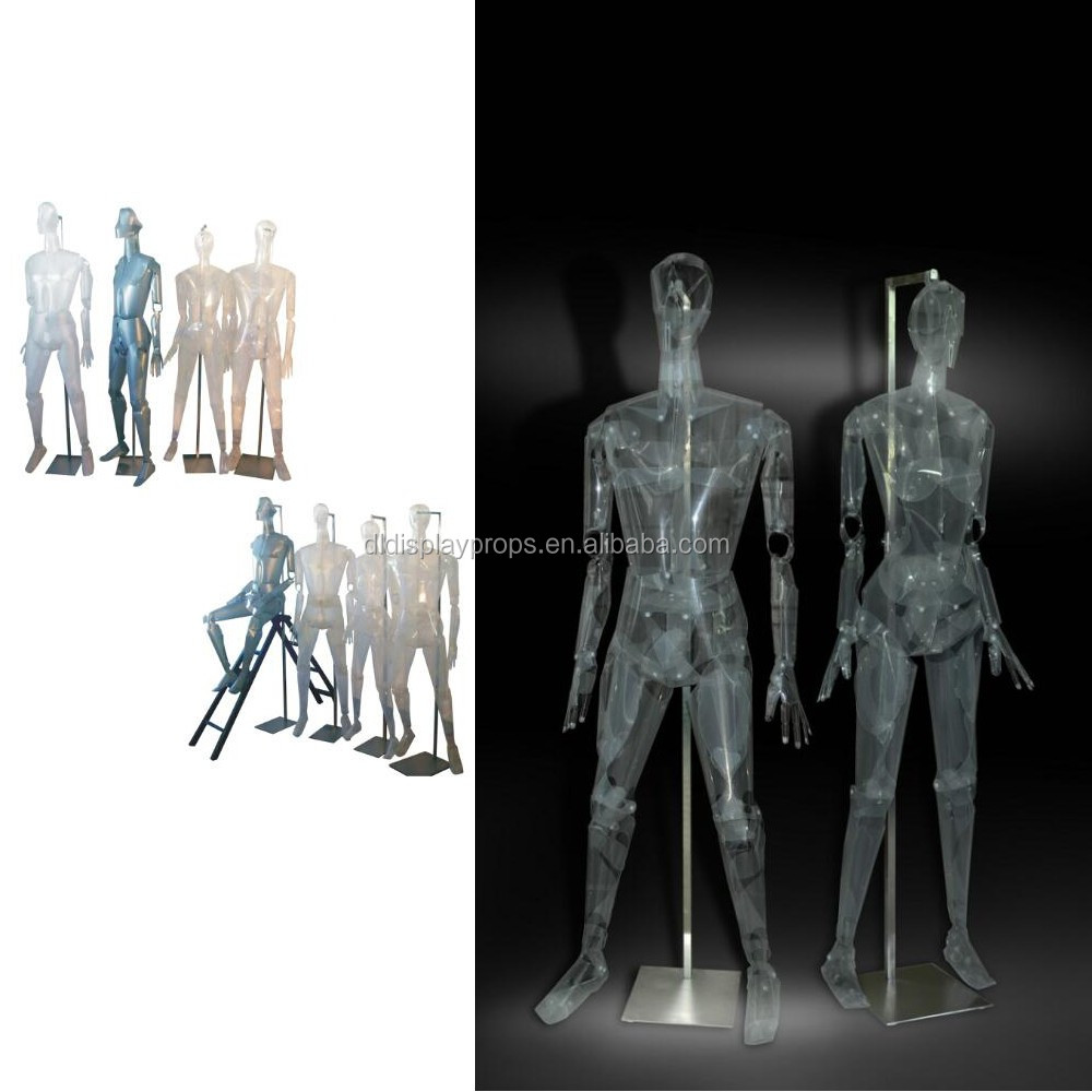 PVC material female/male mannequin white/black color plastic mannequin on sale for clothing shop cheap male mannequin for sale