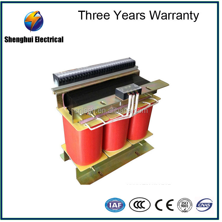 3 Phase dry type 220v input 380v output isolation transformer 120kva