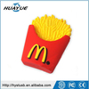 Factory Direct Selling USB 2.0 French-fries Type USB Thumb Memory 1GB 4GB 8GB 16GB Silicone Wristband USB Flash Disk