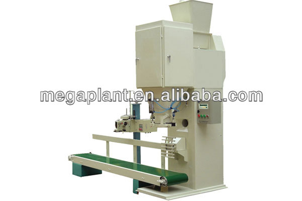 Vertical wood pellet / granule packer