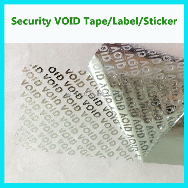 warranty printing security void sticker seal