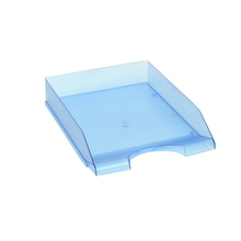 Plastic PS Stackable File Organizer Desk File Tray