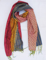 handmade kantha stole shawl scarf exporter from india