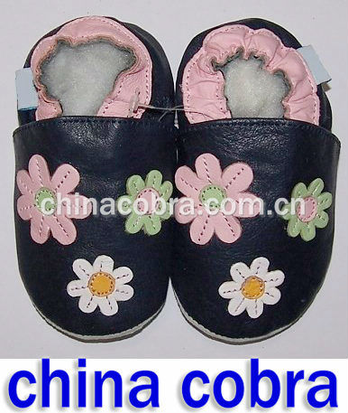2016 hot sale design leather baby shoes soft sole GENUINE LEATHER SHOES
