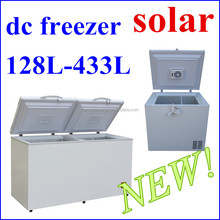 new double top open door two compartment large chest freezer 12v deep freezer solar powered dc freezer