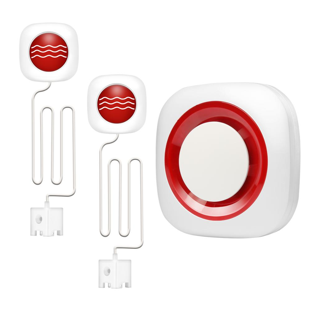 2019 New Design Wireless GSM Smart Home Water Immersion Leak/Lack Detector Alarm System,Support DIY Expandable Installation