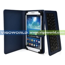 Universal Removable leather USB keyboard cover for 8.9 inch tablet keyboard case, for Samsung Galaxy Tab 3