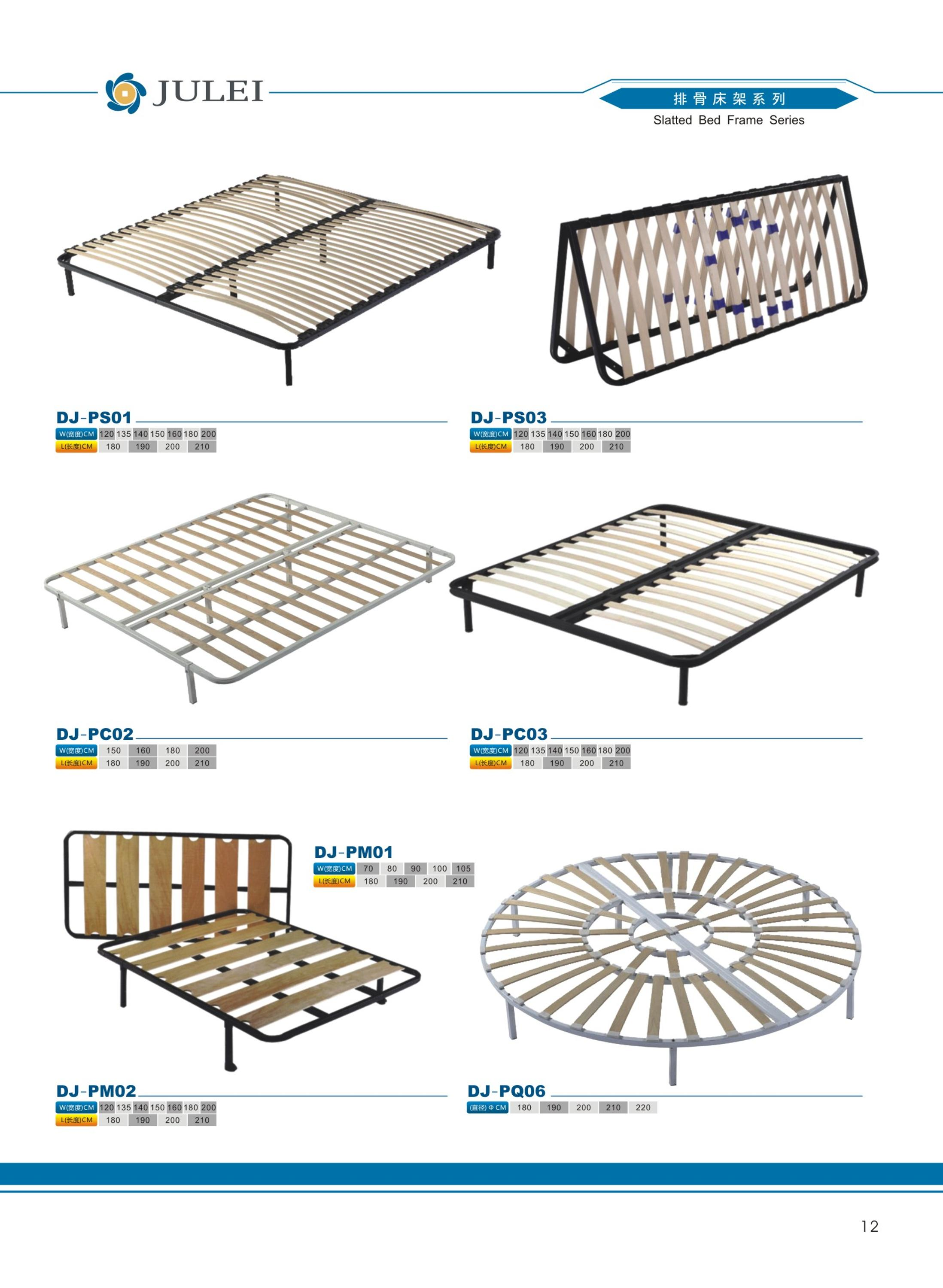 new design girlish platform folding round metal bed frame DJ-PQ06