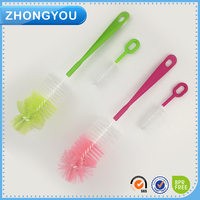 Long handle brush easy cleaning bottle