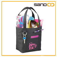 2016 Wholesale portable reusable tote shopping bags