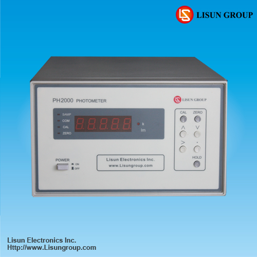 PH2000 digital lumen meter work with integrating sphere have high accuracy