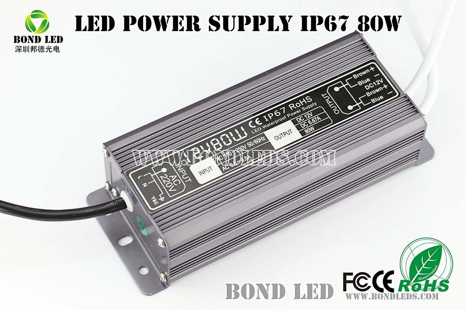 good quality waterproof single output switch power supply 100w 12v/ 24v led transformer/ driver/ power supply IP67