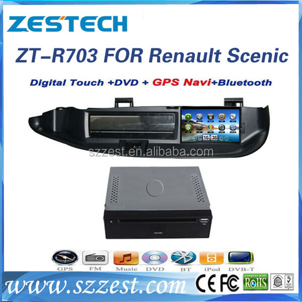 ZESTECH China Manufacturer touch screen gps oem 2 din Car DVD for Renault Scenic