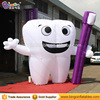 Standing decoration inflatable tooth balloon with toothpaste toothbrush