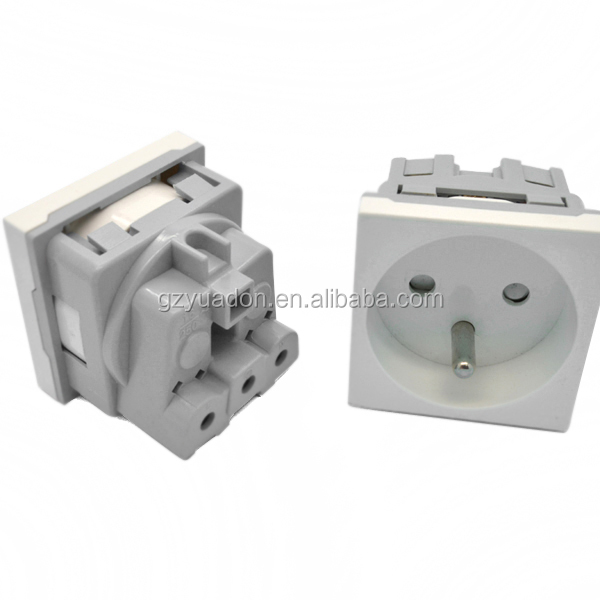 Factory supply high quality ABS plastic France type electrical plug wall socket