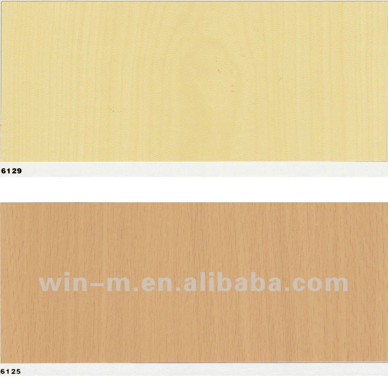 Self-adhesive pvc wood grain membrane for furniture,pvc wood grain self adhesive vinyl