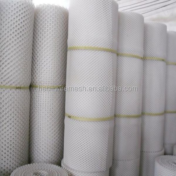 plastic mesh white roll/reinforced plastic wire mesh