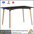high quality wood and wrought iron dining table model