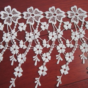 19 cm DIY Embroidery 5 Petals Small Flower White Lace Trim For Dress Accessories