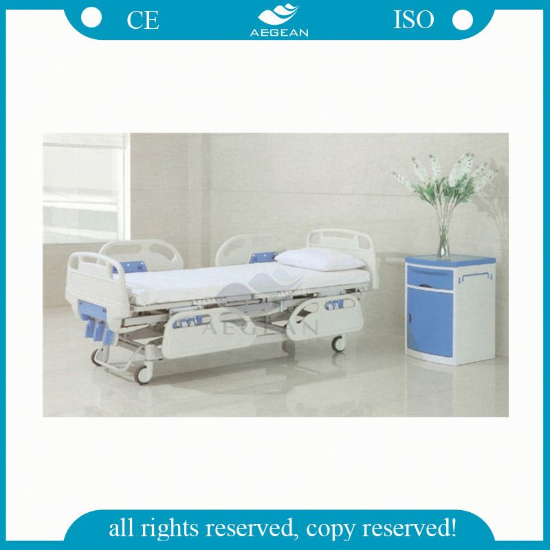 Three functions for patient recovery sleep rest manual adjustable bed