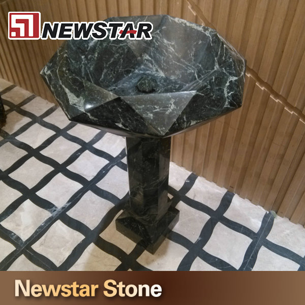 Natural Stone Marble Pedestal Sink