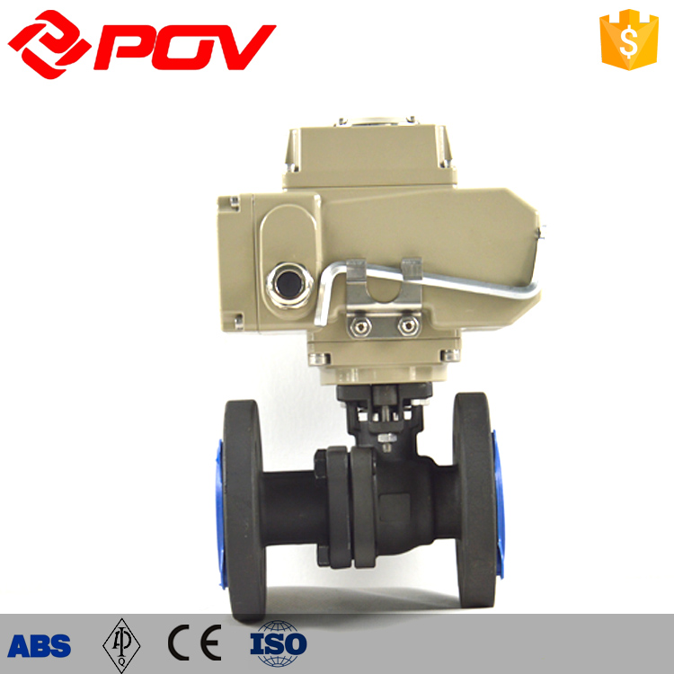carbon steel flange motorized ball valve dn150