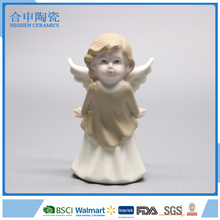 Cute Figurines Ceramic Angel Statue With Wings For Home Decoration