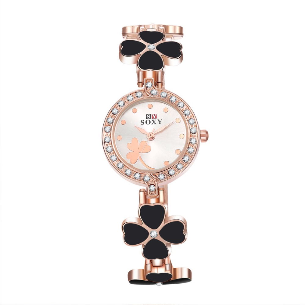 2016 cheap price fashion four-leaf clover ladies fancy watches imported watches
