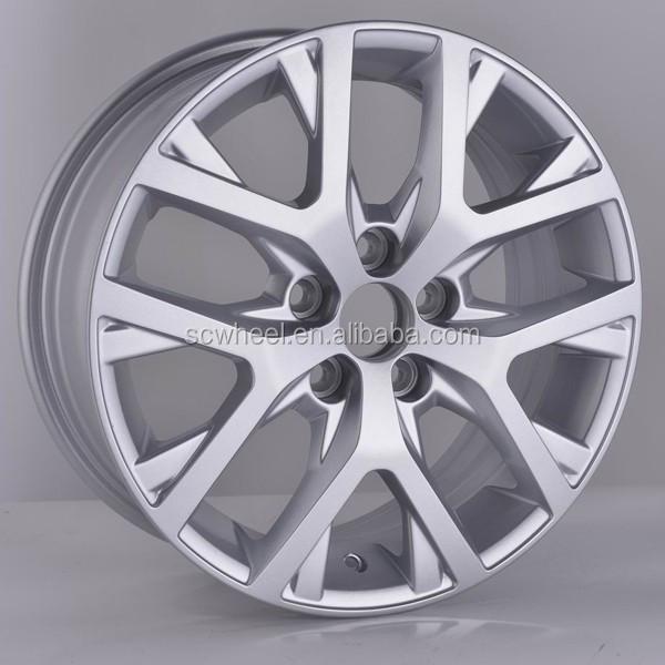 15inch silver machine face alloy wheel rims for replica car VW