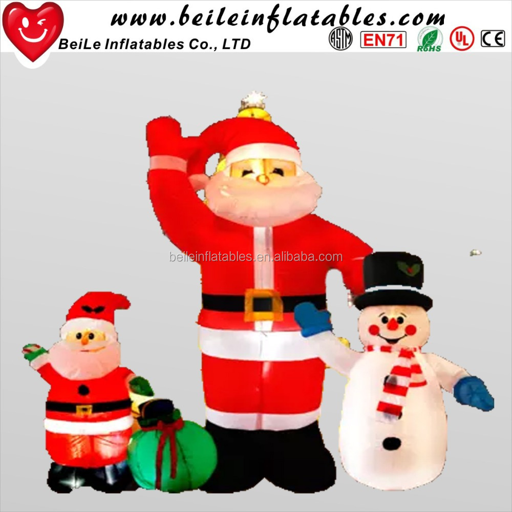 Big outdoor christmas santa claus with factory price
