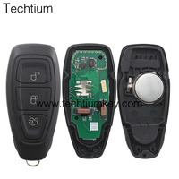 Hot Sale 3 button smart key card 433Mhz 49 chip remote key for ford Mondeo