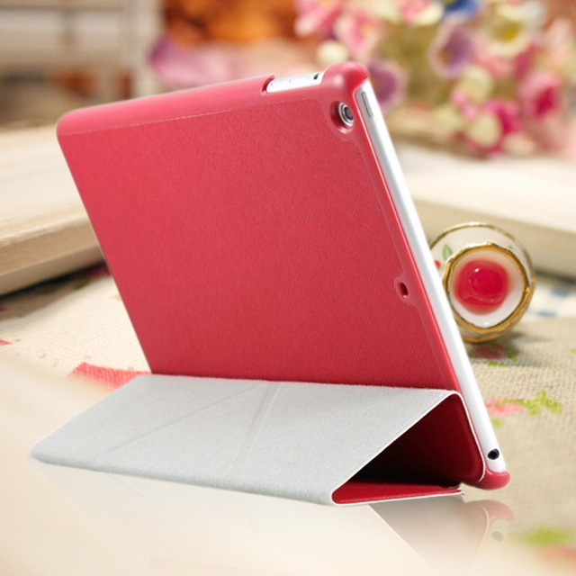 For iPad 2 3 4 Air High Quality Leather Case Magnetic Flip Book Case with Hard Back Cover